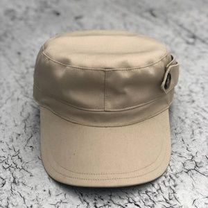 BURBERRY Unisex Light Tan Newsboy Cap Hat Sz S